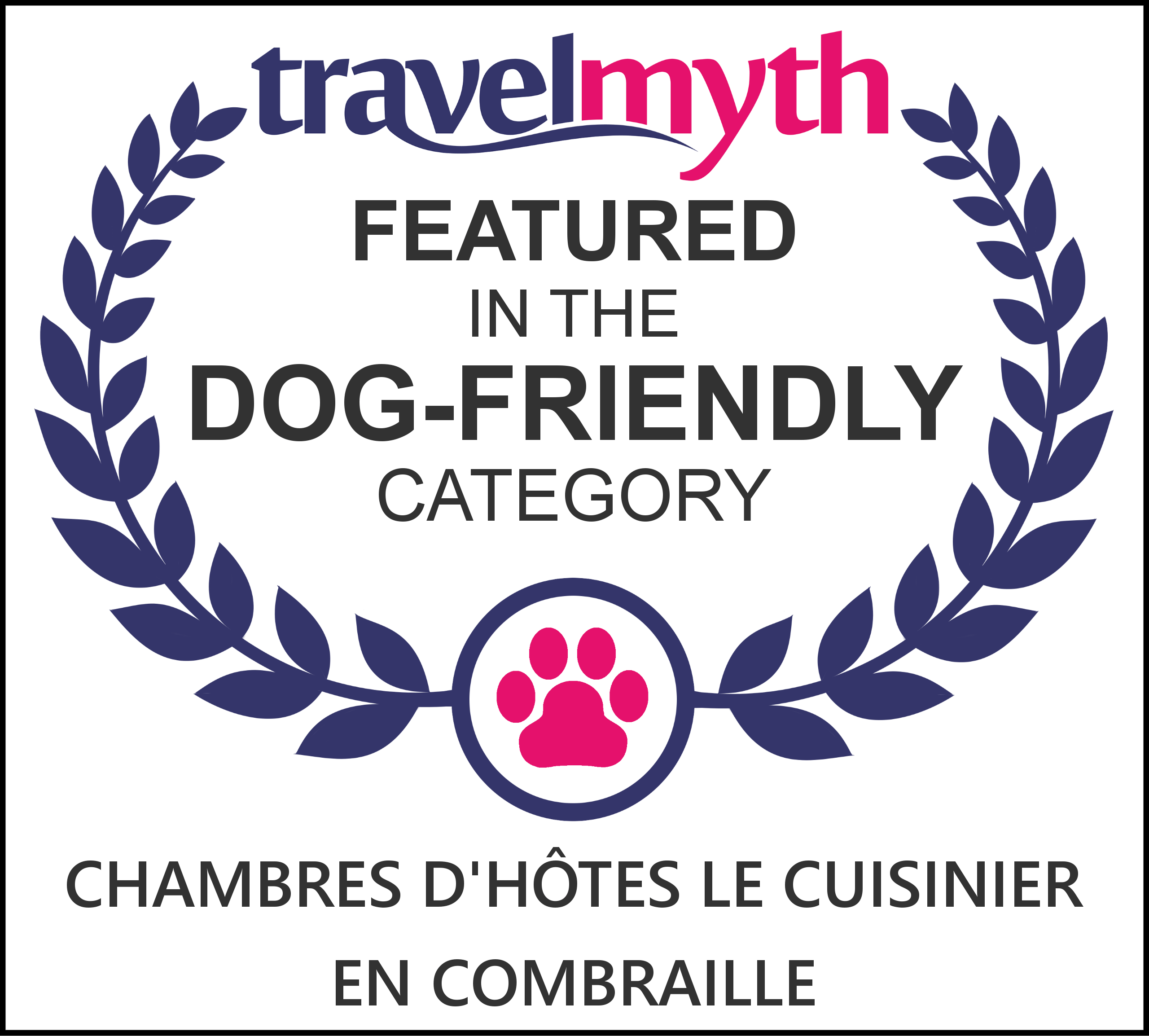 TravelMyth Dog Friendly Certificate